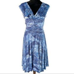 Tracy Reese New York blue fit-and-flare dress